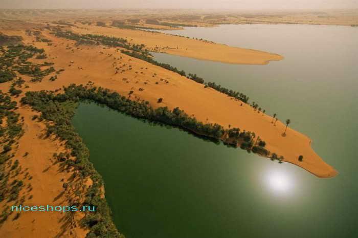 Озеро Унианга в пустыне Сахара