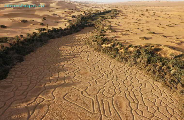 Вади в пустыне Сахара - пересохшие реки