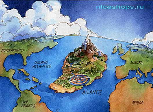 Изображение Атлантиды на территории Африки