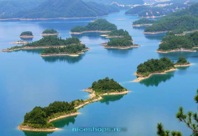 Острова на водохранилище с подземным городом Ши Чен