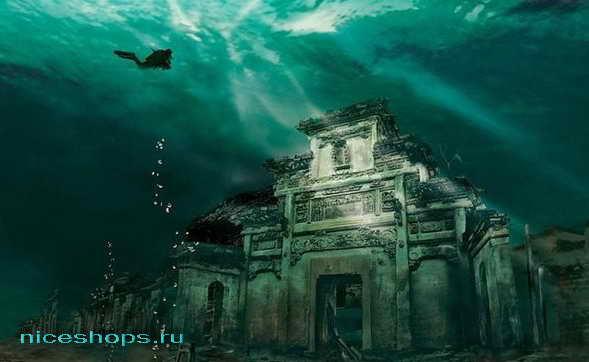 Подводный город Льва (Ши Чен) на территории Китая