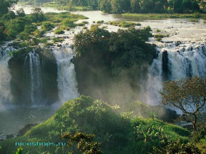 Водопады рупнейшей реки Африки и мира - Нила