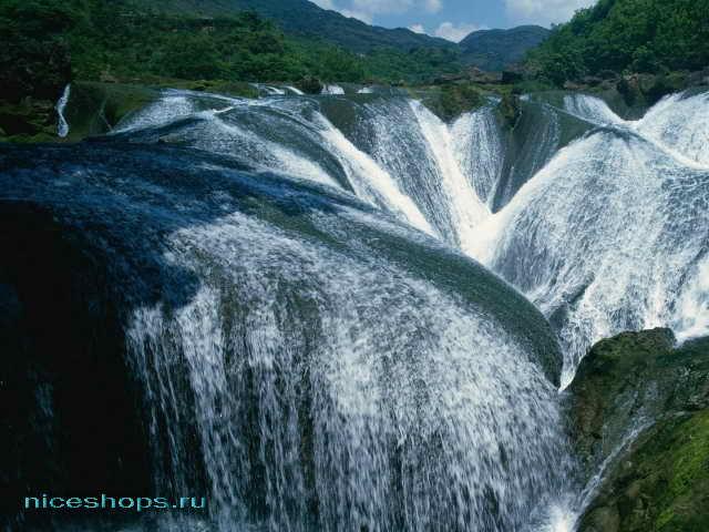Водопады крупной реки Евразии и мира - Янцзы в Китае
