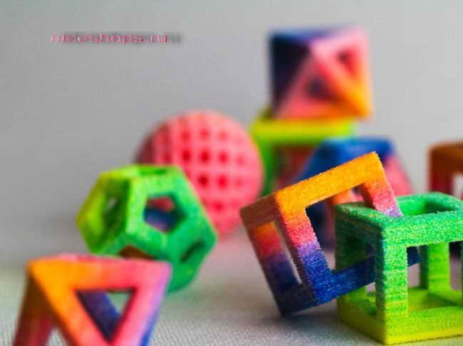 3д-печать цветных сладостей