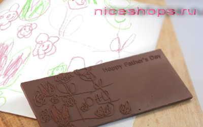 3д-печать надписей и картинок на шоколадных плитках