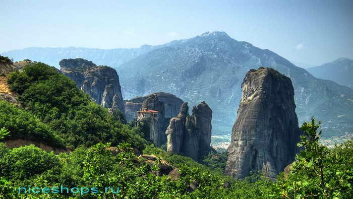 Метеоры Греции женский монастырь Русану