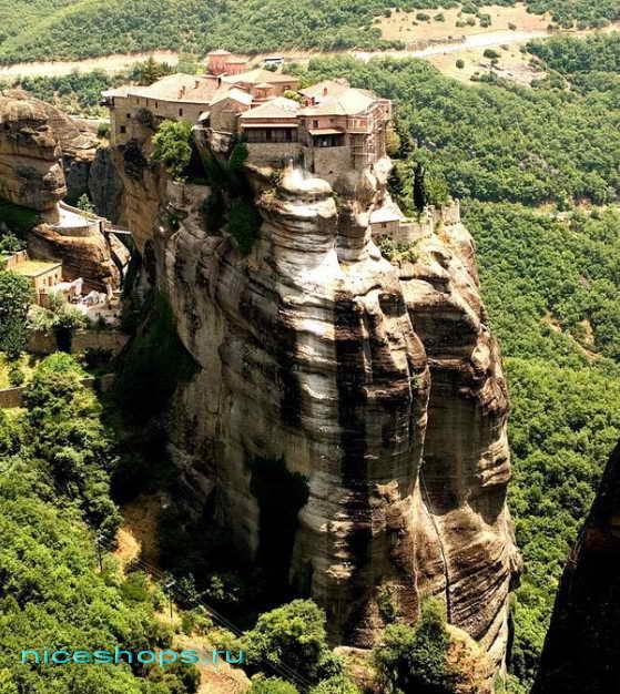 Метеоры Греции монастырь св. Варлаама