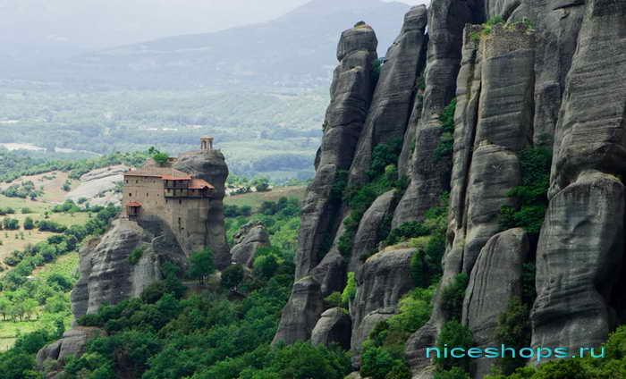 Метеоры Греции мужской монастырь св. Николая