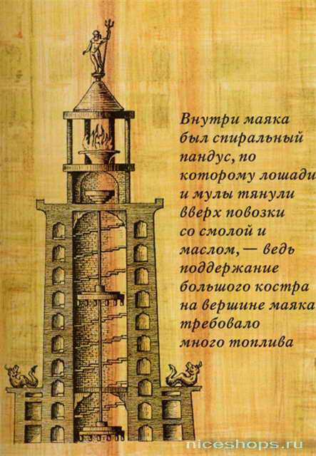 Конструкция Александрийского маяка