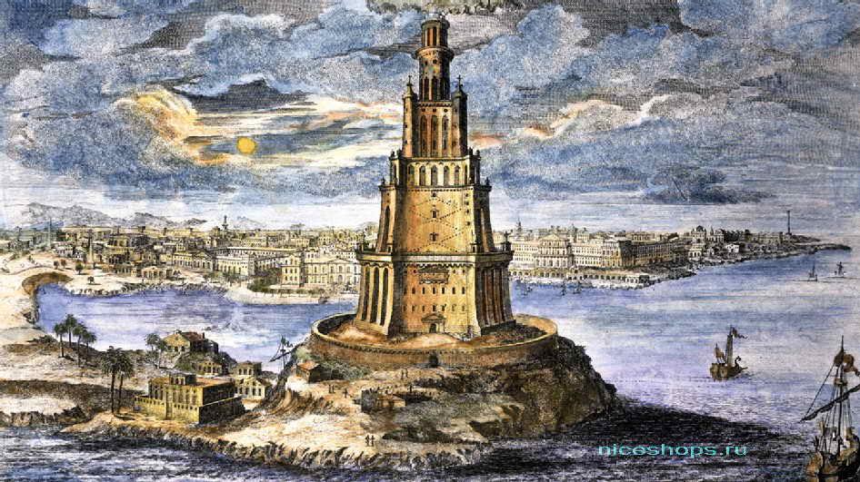 Александрийский маяк рисунок