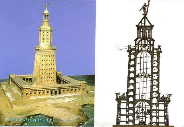 Проект и макет Александрийского маяка
