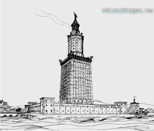 Графическое изображение Александрийского маяка