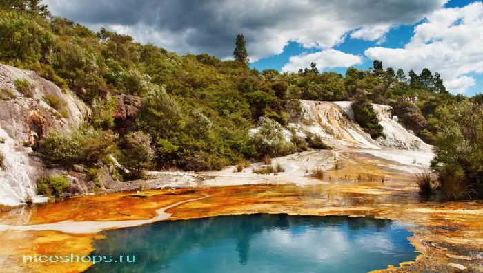 Долина гейзеров в Новой Зеландии