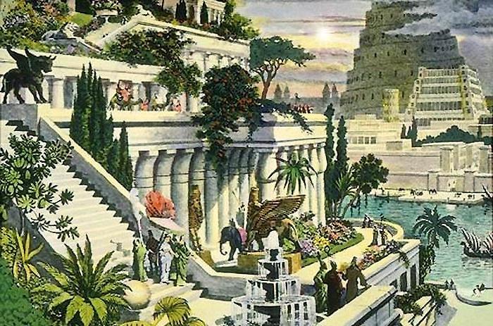 висячие сады семирамиды картинки