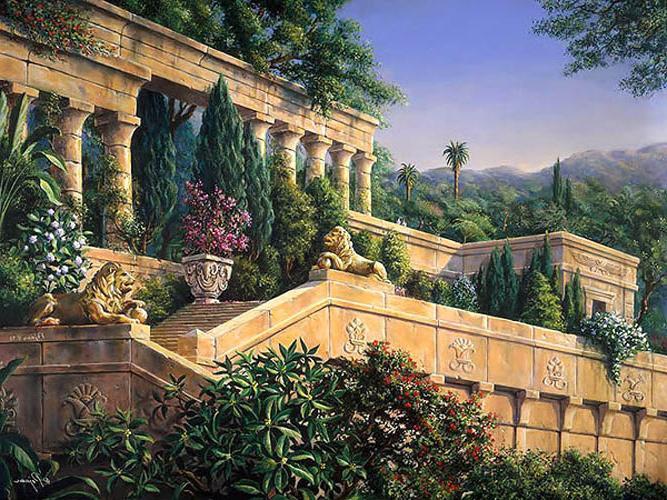 Одно из 7 чудес света - сады Семирамиды