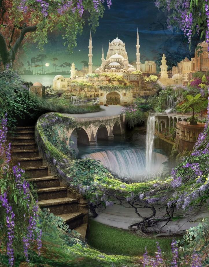 Висячие сады Семирамиды рисунок