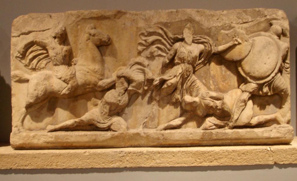 Барельефы с фасада Галикарнасского мавзолея