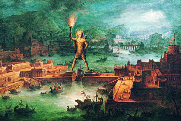 Колосс Родосский рисунок
