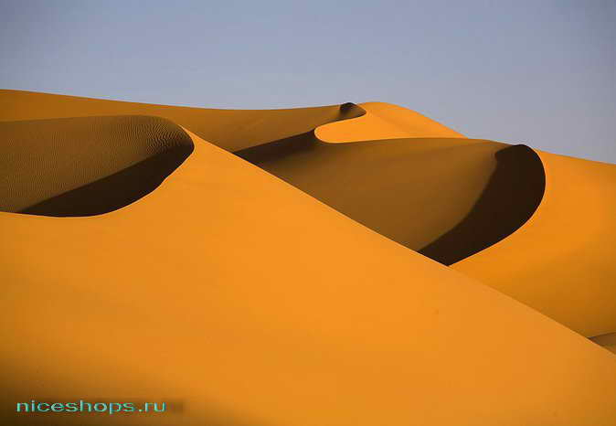 Дюны пустыни Сахары