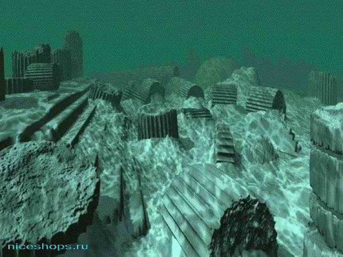 Подводный город у берегов Африки предположительно Атлантида