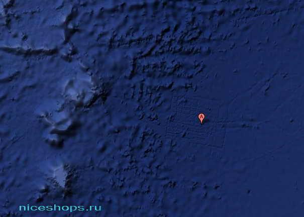 Мифическая Атлантида - съемка из космоса