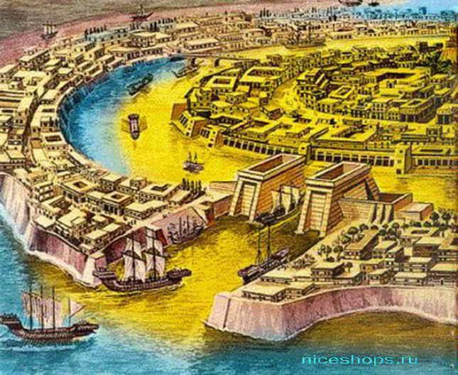 Предположительная планировка города Атлантиды
