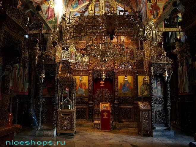 Иконостас церкви метеора св. Стефана