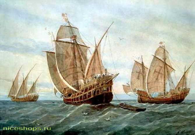 Открытие Америки Колумбом: каравеллы