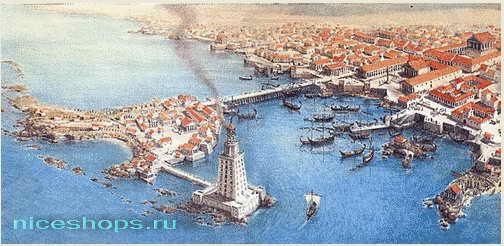 Александрийский маяк на острове Фарос