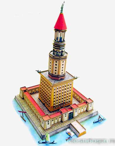 Трехмерный рисунок Фаросского маяка