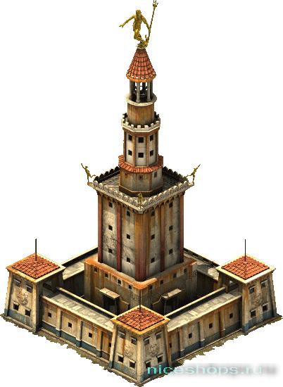 Макет реконструкции Фаросского маяка