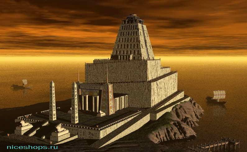 Трехмерное изображение Александрийского маяка