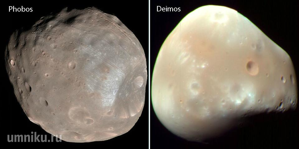 Спутники Марса: Фобос и Деймос