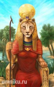 Богиня Сехмет. Древний Египет