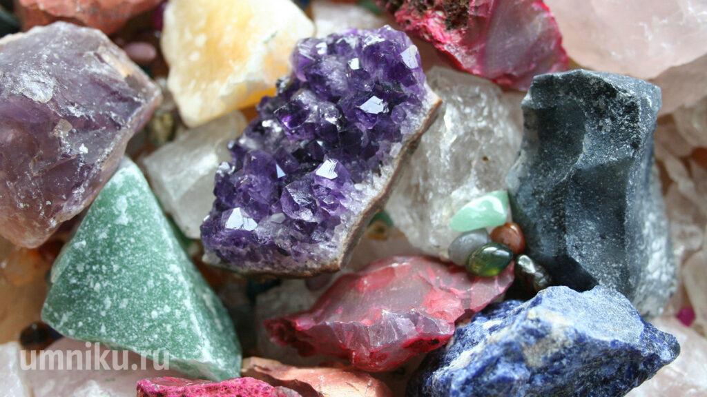 Природные минералы: фото