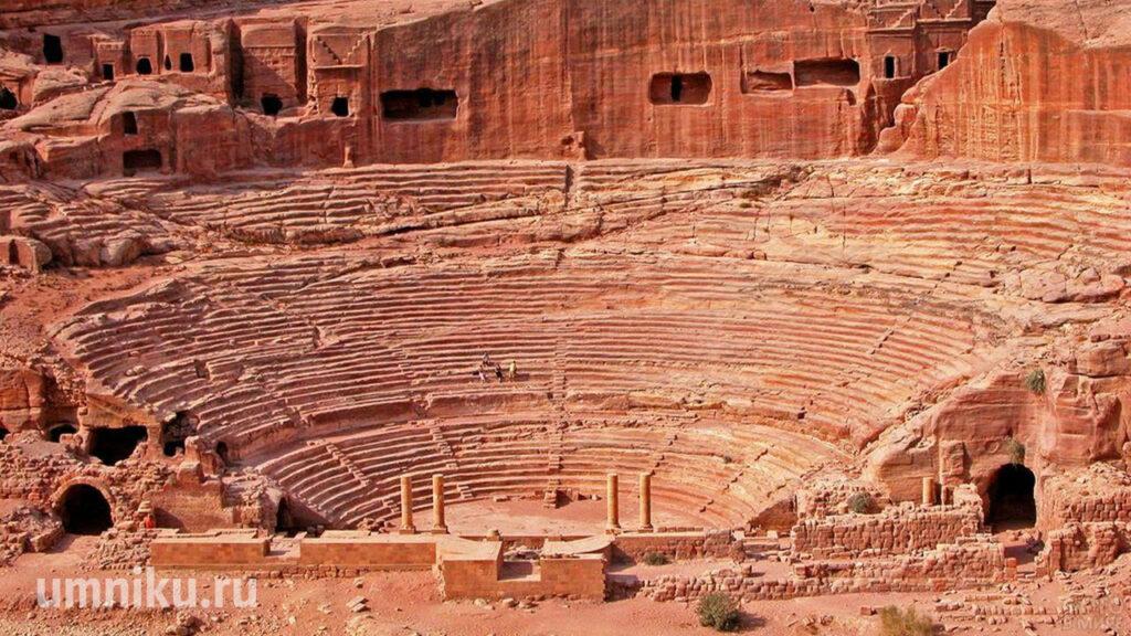 Амфитеатр в Петре, Иордания
