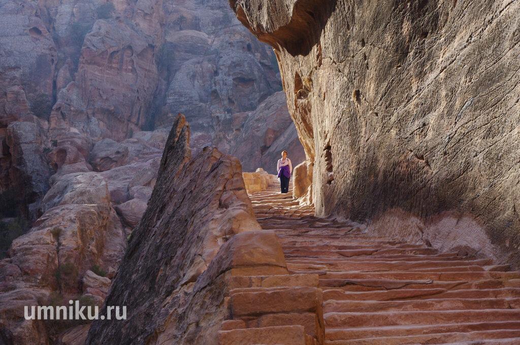 Дорога к Высокому жертвеннику, Петра, Иордания