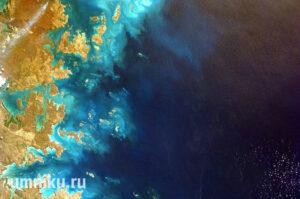 Большой Барьерный риф из космоса